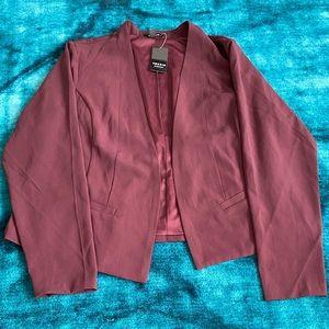 Torrid wine/burgundy blazer
